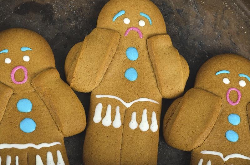 Gingerbread men. Selective focus