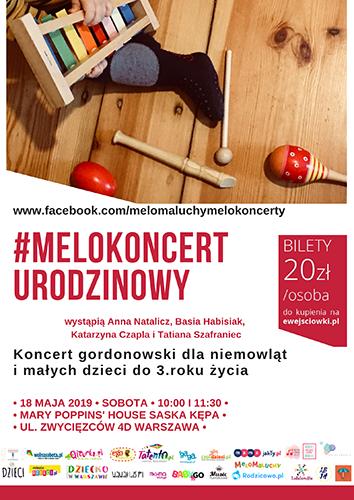 MeloKoncert plakat maj 2019