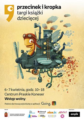 plakat_Targi_książki_dziecięcej_Przecinek_i_Kropka