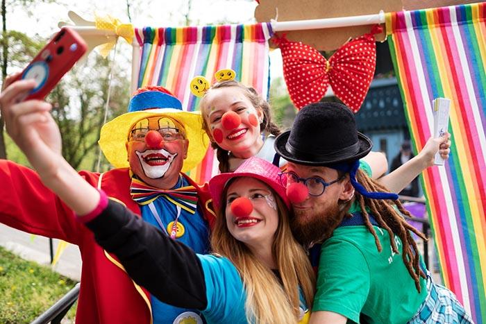 "Festiwal Usmiechu Fundacji ""Dr Clown"", 4.05.2019 Opole, fot. Piotr Litwic"
